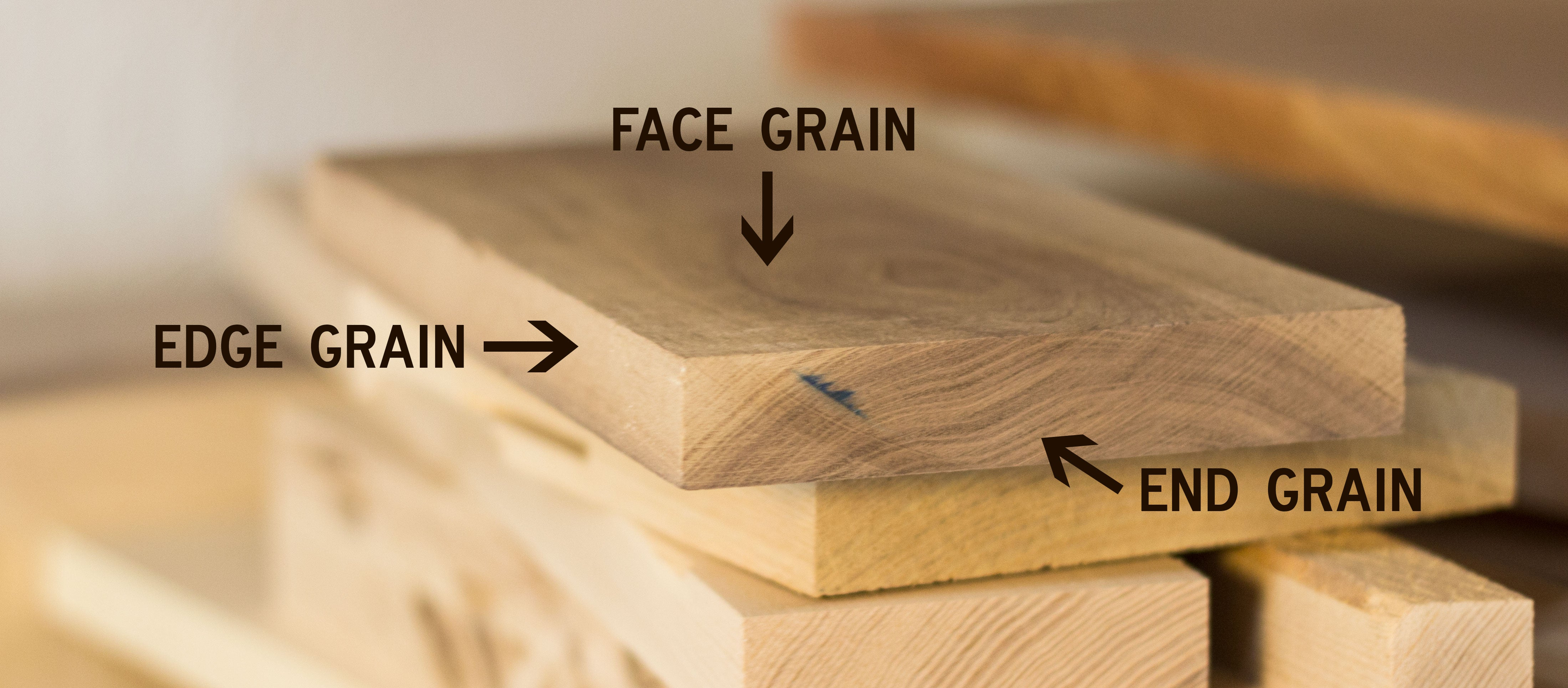 types of wood grain