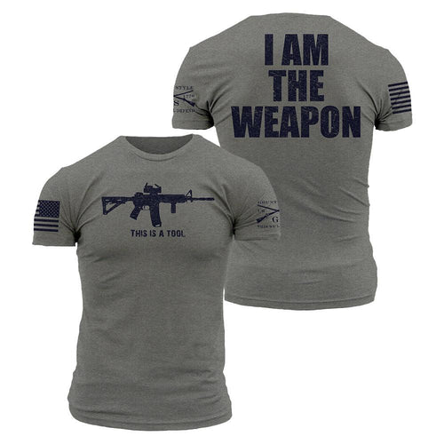 I Am The Weapon Grunt Style- Mens T-Shirt
