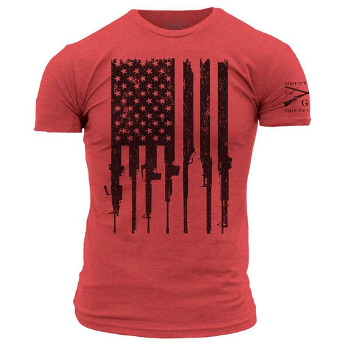 R.E.D. Mens Rifle Flag T-Shirt