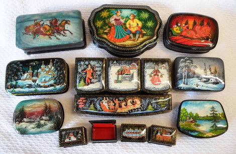 Russian Art Lacquer Boxes
