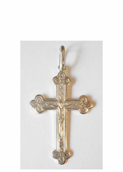 B015 Orthodox Cross Sterling Silver