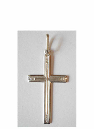 B018 Cross Sterling Silver