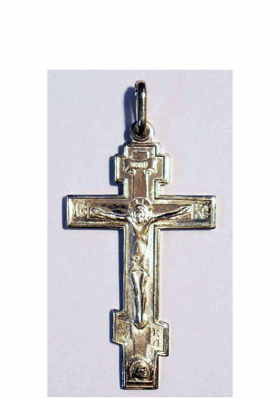 B00065 Three Bar Orthodox Cross Sterling Silver