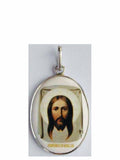 B500Lg Porcelain Christ Icon Pendant