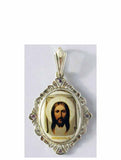 B500 Porcelain Christ Icon Pendant