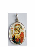 B508Lg Porcelain Meet It Is Theotokos Icon Pendant