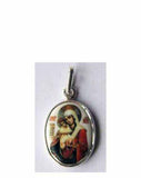 B508Sm Porcelain Meet It Is Theotokos Icon Pendant