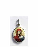 B511Sm Porcelain Kazan Mother of God Icon Pendant