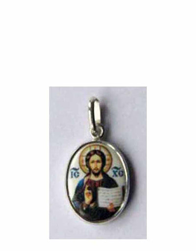 B521Sm Porcelain Christ Icon Pendant
