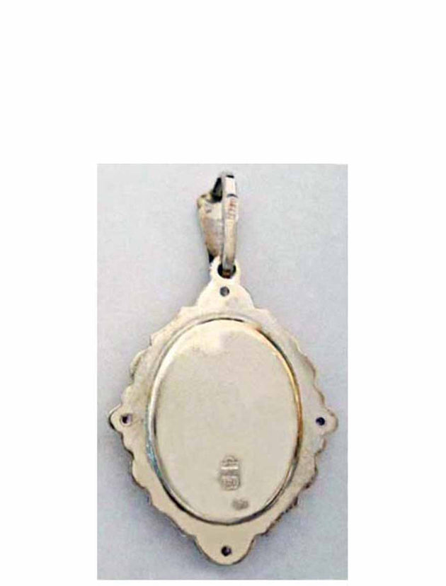 B501 Porcelain Christ Icon Pendant
