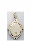 B509 Porcelain Meet It Is Theotokos Icon Pendant
