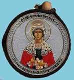Tatiana and Guardian Angel Round Two Sided Car Pendant Icon CP014