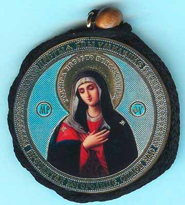 Tender Feeling and Seraphim of Sarov Round Two Sided Car Pendant Icon CP018
