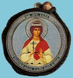 Alla and Guardian Angel Round Two Sided Car Pendant Icon CP052