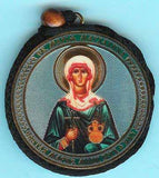 Mary Magdalene and Guardian Angel Round Two Sided Car Pendant Icon CP056