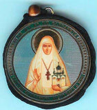 Elizabeth and Guardian Angel Round Two Sided Car Pendant Icon CP059