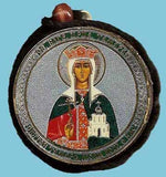 Tamara and Guardian Angel Round Two Sided Car Pendant Icon CP062