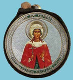 Larisa and Guardian Angel Round Two Sided Car Pendant Icon CP065