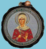 Galina and Guardian Angel Round Two Sided Car Pendant Icon CP067