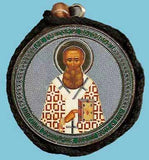 Gregory the Theologian and Guardian Angel Round Two Sided Car Pendant Icon CP076