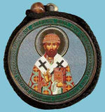 Philip Metropolitan and Guardian Angel Round Two Sided Car Pendant Icon CP080