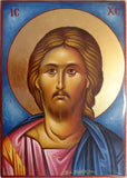 Christ Hand Painted Greek Icon 6x8