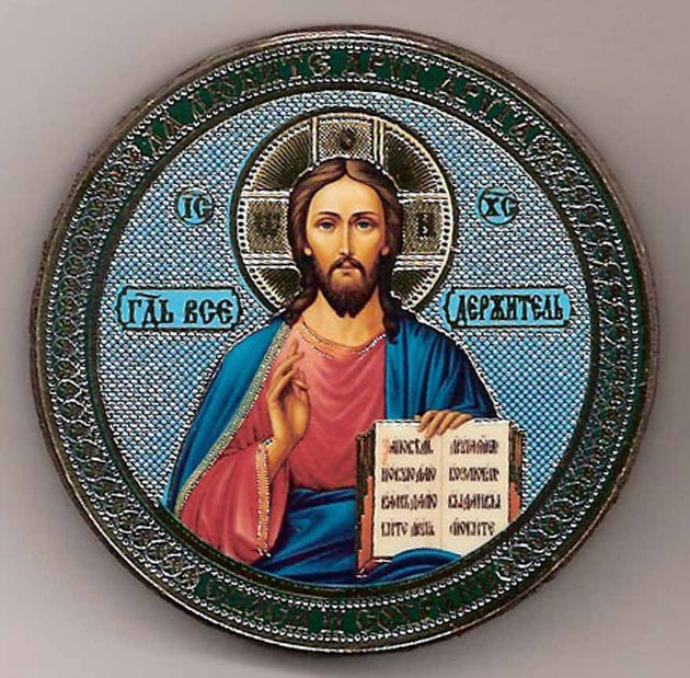 Christ Round One Sided Car Icon Ci001