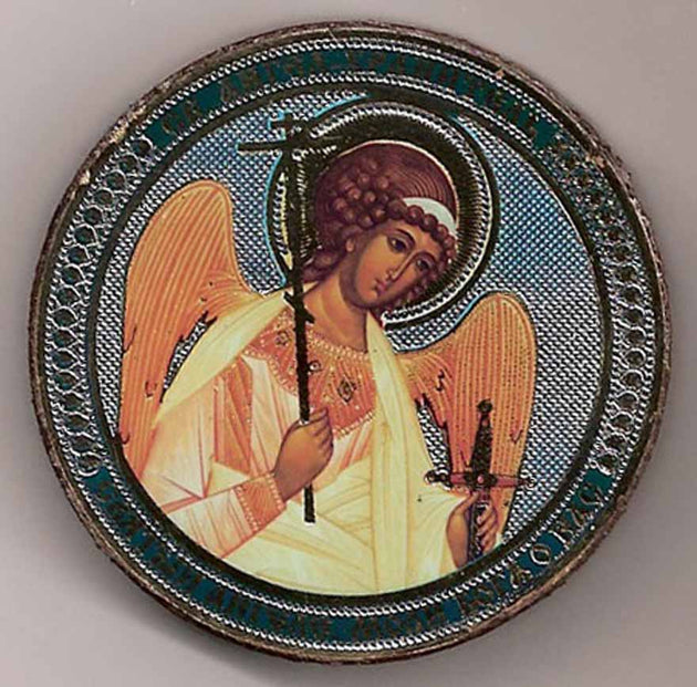 Guardian Angel Round One Sided Car Icon Ci004