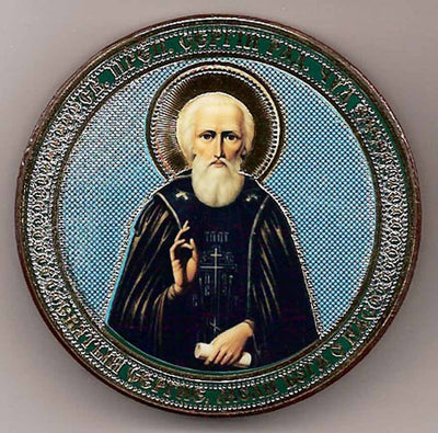 Sergius of Radonezh Round One Sided Car Icon Ci005