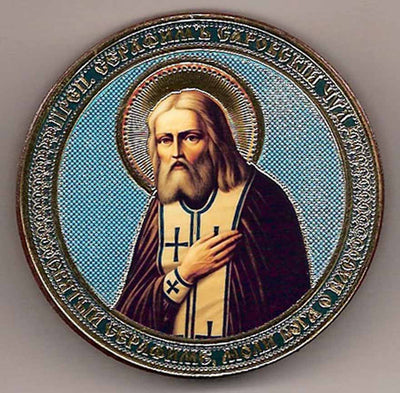 Seraphim of Sarov Round One Sided Car Icon Ci009