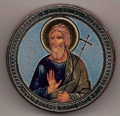 Andrew Apostle Round One Sided Car Icon Ci013