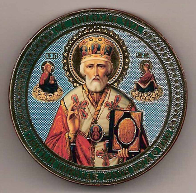 Nicholas of Myra Round One Sided Car Icon Ci015