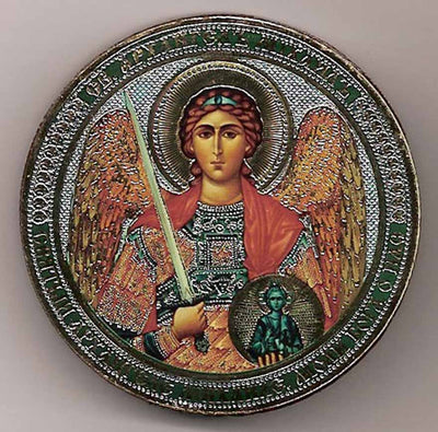 Archangel Michael Round One Sided Car Icon Ci016