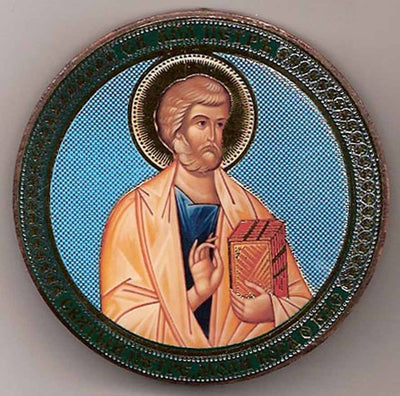 Peter Apostle Round One Sided Car Icon Ci025