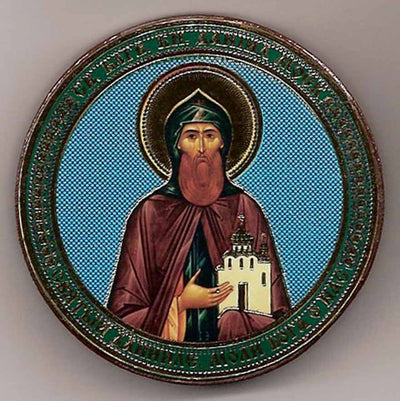 Daniel of Moscow Saint Round One Sided Car Icon Ci033