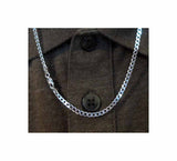 Chain Sterling Silver Curb Medium 3 mm