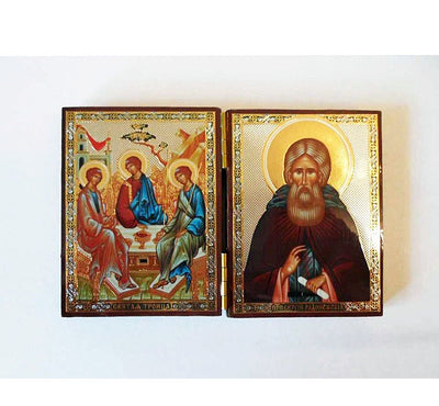 Holy Trinity and Sergius of Radonezh DiptychSmall002
