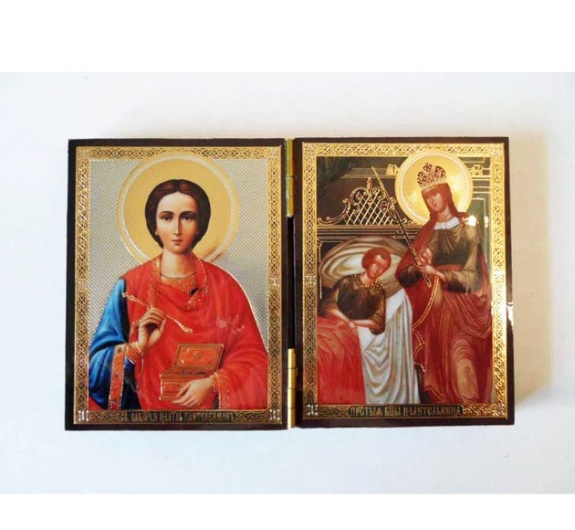 Panteleimon and Healing Mother of God DiptychSmall004