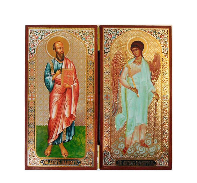 Paul Apostle and Guardian Angel DiptychTall009