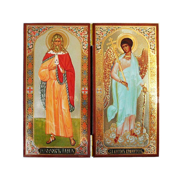 Elias Prophet and Guardian Angel DiptychTall012