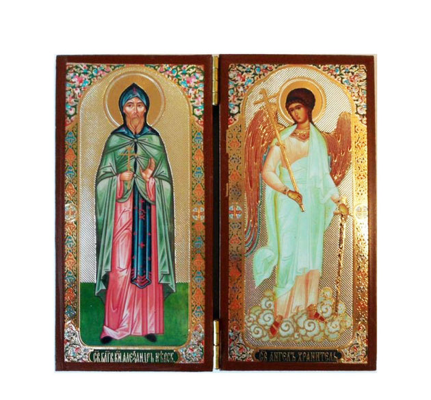 Alexander Nevsky and Guardian Angel DiptychTall013