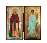 Sergius of Radonezh and Guardian Angel DiptychTall015