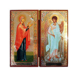Anna Prophetess and Guardian Angel DiptychTall016