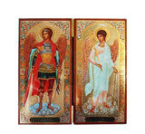 Archangel Michael and Guardian Angel DiptychTall017
