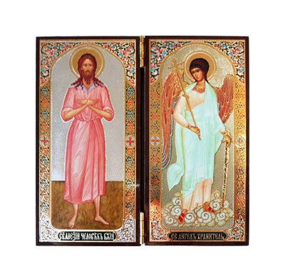 Alexey Man of God and Guardian Angel DiptychTall020