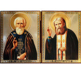 Sergius of Radonezh and Seraphim of Sarov DiptychWide007