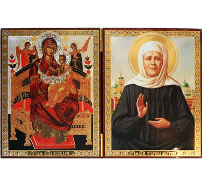 Pantanassa Theotokos and Matrona the Blind DiptychWide008