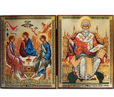 Holy Trinity and Saint Spyridon DiptychWide009