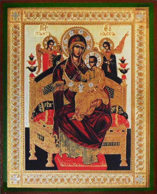 Enthroned Pantanassa Mother of God