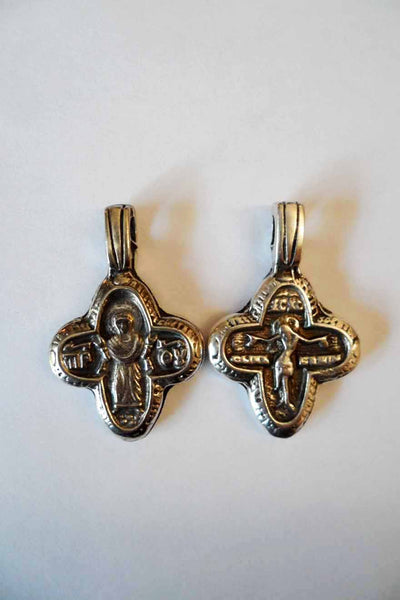 GC004 Greek Cross Protection and Crucifixion